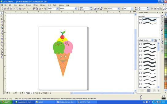 Membuat Ice Cream dengan Corel Draw