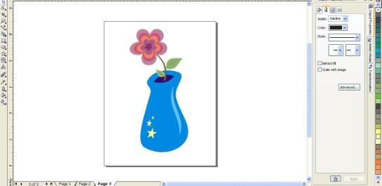 Vas Bunga dengan Corel Draw